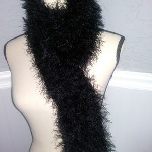 Accessories - Super long fuzzy scarf/wrap in black